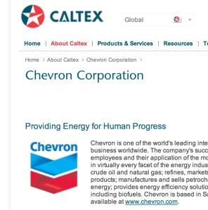 Caltex_Chevron website