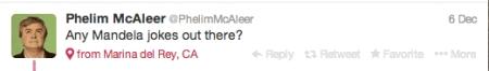 McAleer Mandela Joke